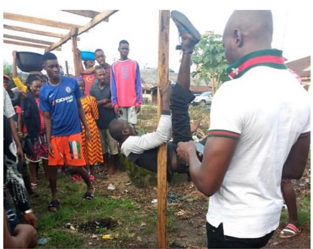 Man tied to a stake and beaten for raping 7-yr-old girl in Delta