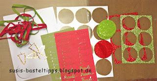Resteverwertung für Schmuckrosetten aus dem Stampin' Up! Set Weihnachtsfreude Minikatalog 2017 von unabhängiger