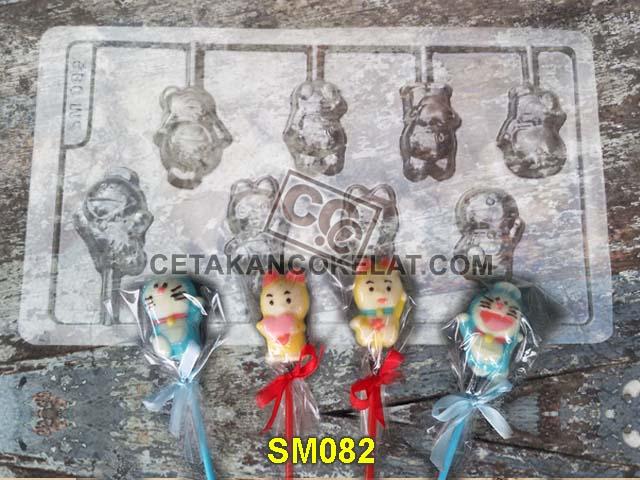 cetakan coklat cokelat SM082 SM82 mold mould lolipop doraemon dorami #cetakancoklat