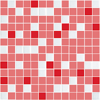 Modelos de alfombras vinilicas - Rojo, rosado y blanco