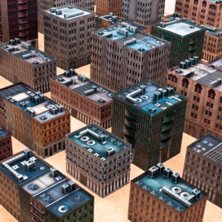 Papercraft Urban Buildings for Miniature Gaming   Tektonten Papercraft