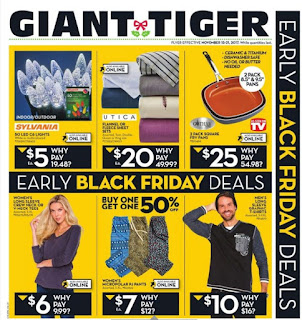 Giant Tiger Weekly Flyer November 15 - 21, 2017
