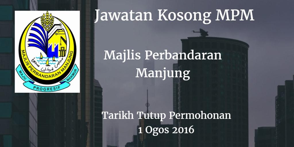 Jawatan Kosong MPM 1 Ogos 2016