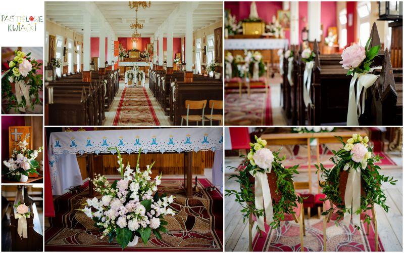 kwiaty do kościoła na ślub