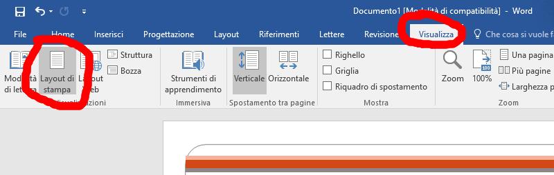 Attivare il layout di pagina in Word