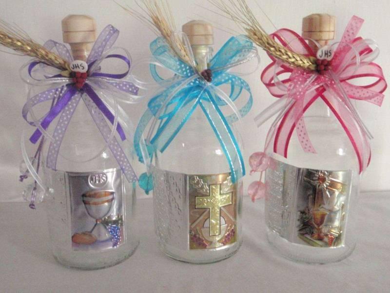 Ideas Para Tu Fiesta Ideas De Botellas Decoradas Para Primera Comunion - Decorados-para-fiestas