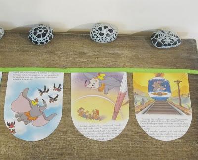 image dumbo bunting the elephant disney children domum vindemia upcycled handmade nursery baby