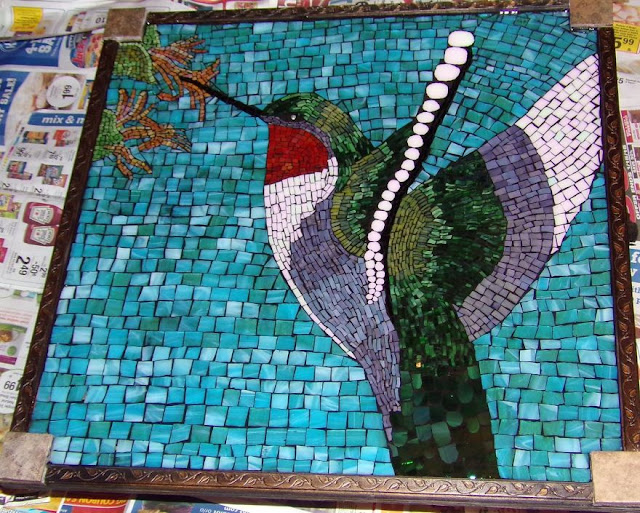 Glass mosaic art made by Kashena Hottinger
