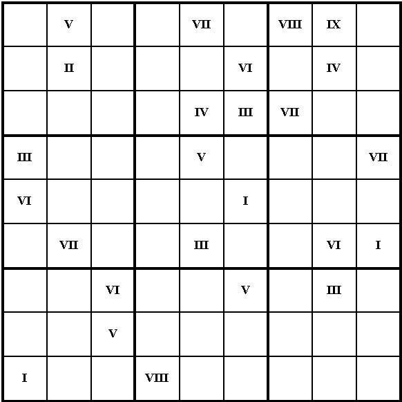 Almacén De Clásicas Cinco Sudokus Fáciles Con Números Romanos