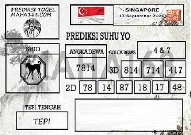 Kode syair Singapore Kamis 17 September 2020 216