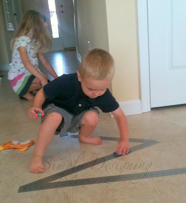 tacks04 DIY Duct Tape Race Tracks {Boredom Buster} 30