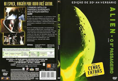 Filme Alien, O Oitavo Passageiro DVDRip Versão Estendida DVD Capa