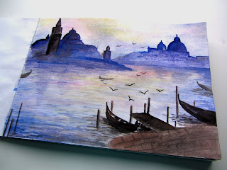 Венеция акварель