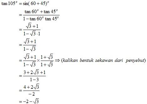Rumus Trigonometri Untuk Jumlah Dua Sudut Dan Selisih Dua Sudut Madematika