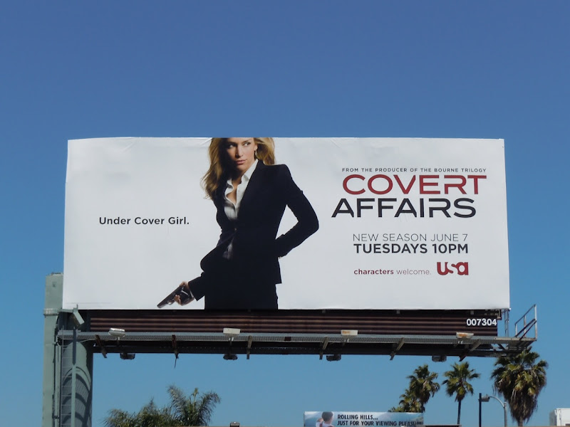 Covert Affairs season 2 TV billboard