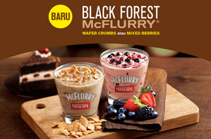 McDonald Promo McFlurry Black Forest,