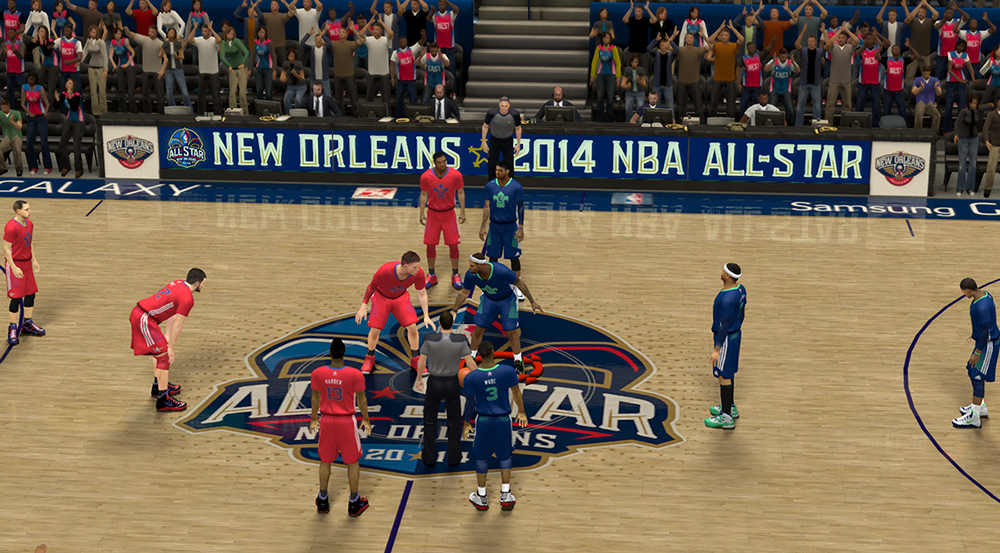 NBA 2K14 2014 All-Star Game Court New Orleans