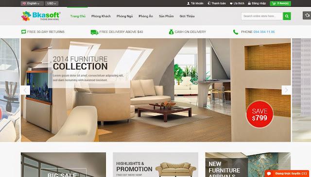 thiết kế website bán hàng đẹp tuyệt vời 1
