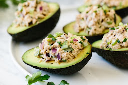 Tuna Stuffed Avocados #healthyfood #dietketo