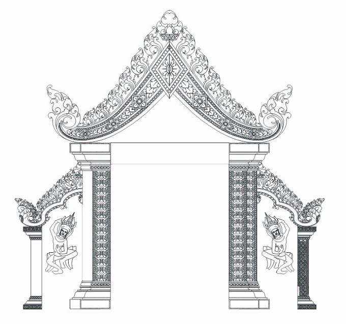 Kbach Khmer Banteay Srey free Vector Graphic