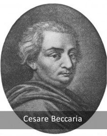 Cesare Baccaria, the 'Father of modern penology'.