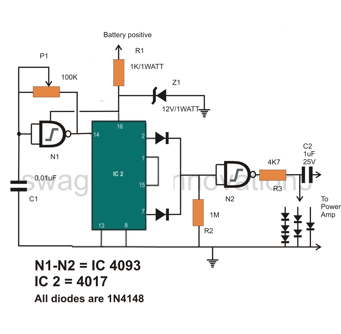scematic diagram panel pure sine wave inverter circuit diagram free schematics diagrams inverter circuit diagram dc 12v to ac 220v 200w [ 1157 x 1133 Pixel ]