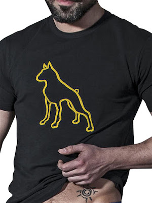 BoXer-Dog-T-T-Shirt-Black-Yellow-Menswear-Gayrado-Online-Shop