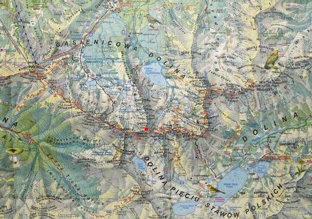 Zawratowa Turnia - mapa