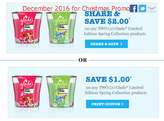 Glade coupons for december 2016