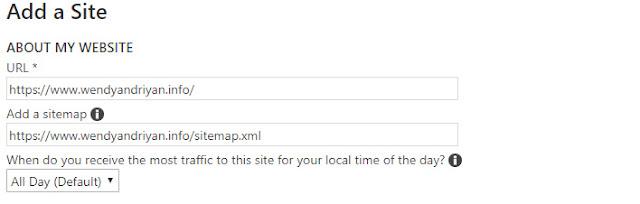 Masukan URL Blog Ke Bing Webmaster Tools