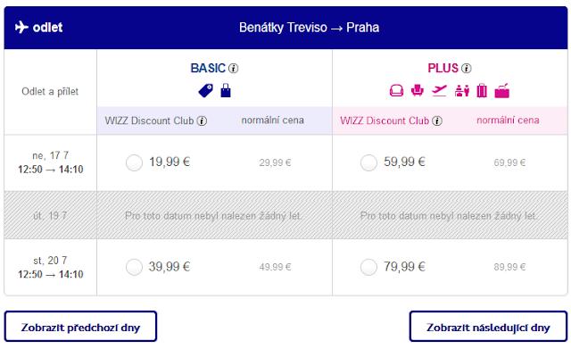 Letenky Benátky - Praha za 19.90 €