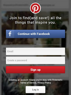 Pinterest Login image
