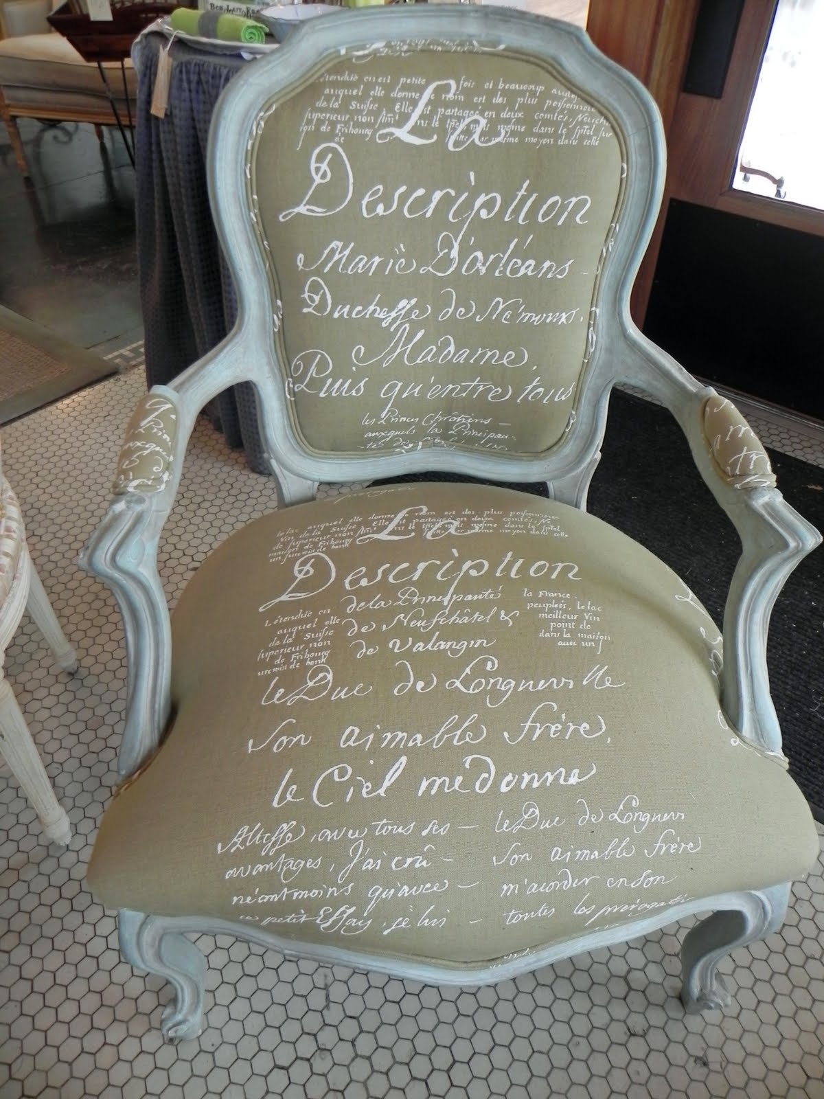 French Script Chair Roses And Rust Follow The Script