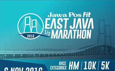 PDSTRIAN: Jawa Post Fit East Java Half Marathon 2016 Surabaya