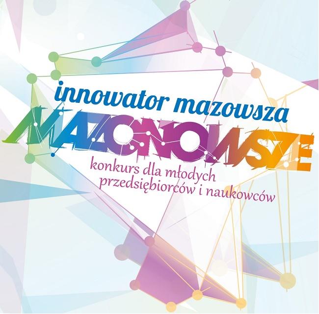 Innowator Mazowsza 2018 - plakat reklamujący konkurs