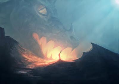 dibujo de un dragón mitológico en Islandia