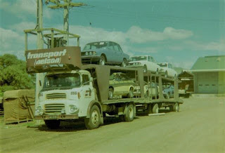 Triumph Mk2s and Princesses on car transporter in New Zealand