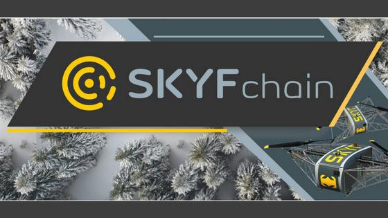 SKYFchain adalah sebuah platfrom yang menggunakan drone tanpa awak untuk keperluan ekspedisi atau pengiriman barang.