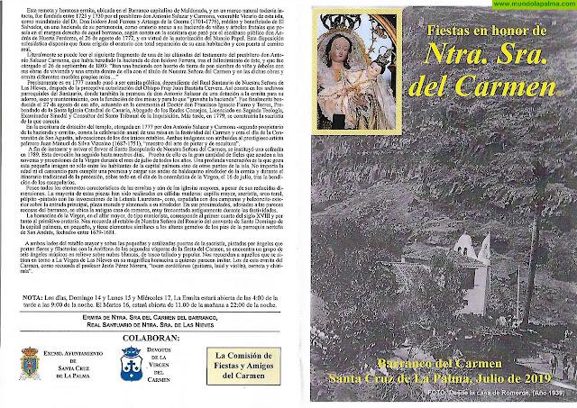 Programa Fiestas del Carmen (Barranco) 2019 - Santa Cruz de La Palma