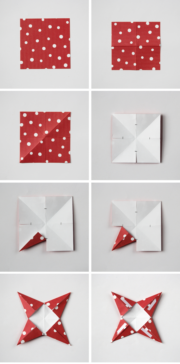 Christmas Decorations Diy With Paper : Diy d paper star christmas decorations gathering beauty