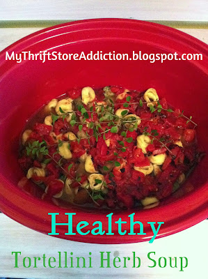 Crockpot tortellini spinach and mushroom soup