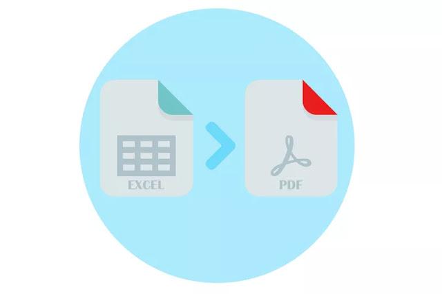 شرح كيفية تحويل ملف اكسيل excel الى pdf اون لاين بدون برامج