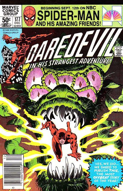 Daredevil v1 #177 marvel comic book cover art by Frank Miller