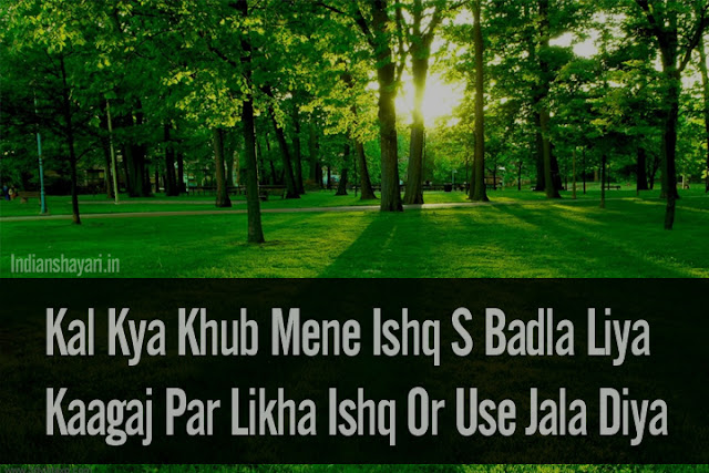 2 Liner Hindi Shayari Love Sad Attitude Shayari Image