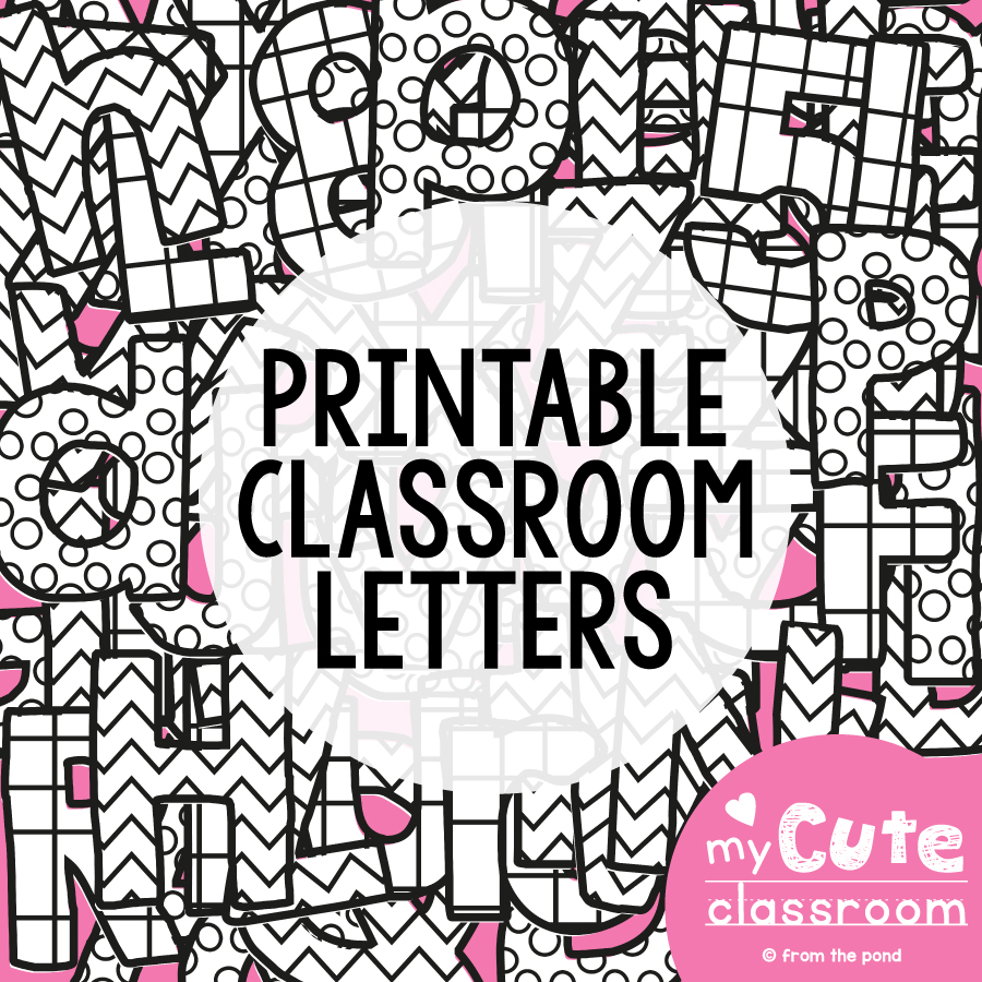 Printable bulletin board letters from the pond for Letters for bulletin boards templates