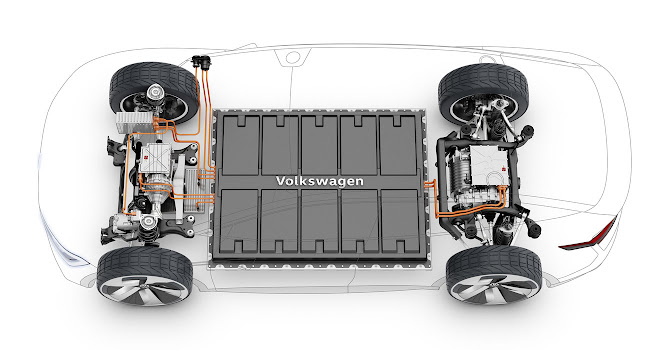 VW Group MEB platform cutaway