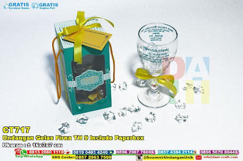 Undangan Gelas Firna TH 9 Include Paperbox