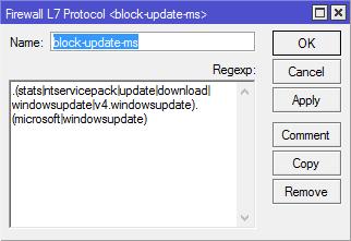 block windows update with firewall