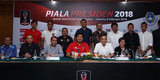 Ini Jadwal Baru Semifinal Piala Presiden 2018