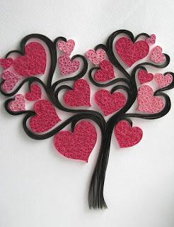albero cuori quilling